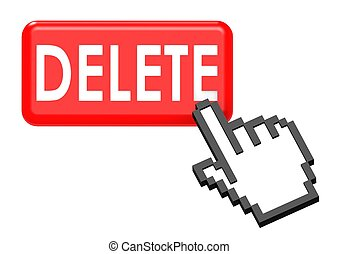 Delete button - Rendered artwork with white background