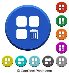 Delete component beveled buttons