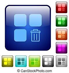 Delete component color square buttons