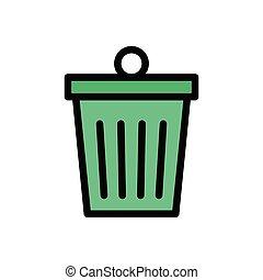delete  flat color icon