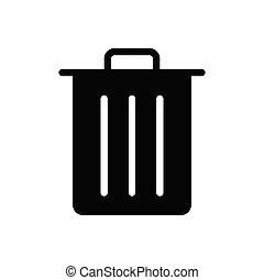 delete glyph flat icon