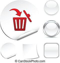 Delete  icon. - Delete white icon. Vector illustration.