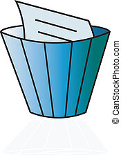 Delete icon - The colour image of a basket for removal