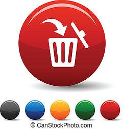 Delete icons. - Delete icon set. Vector illustration.
