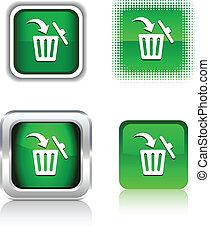 Delete icons. - Delete square buttons. Vector illustration...