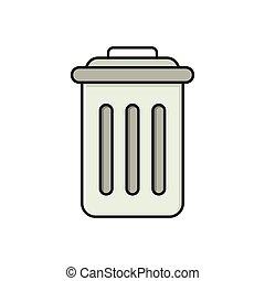 delete line flat icon