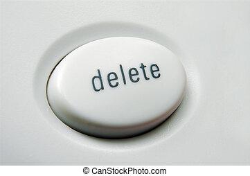 Delete - Macro shot of white delete button on keyboard