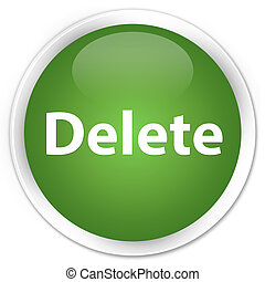 Delete premium soft green round button