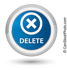 Delete prime blue round button