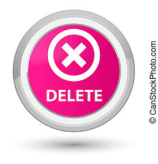 Delete prime pink round button