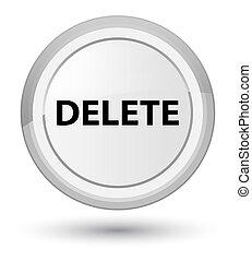 Delete prime white round button