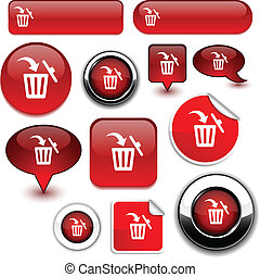 Delete signs. - Delete vector high-detailed icons.