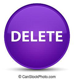 Delete special purple round button