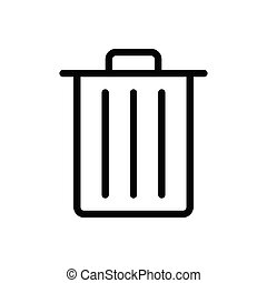 delete thin line icon