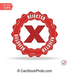 Delete X-Cross rounded icon. Vector style is flat iconic symbol inside a circle, red color, transparent background.