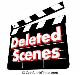 Deleted Scenes Movie Film Clapper Board Bloopers 3d ...