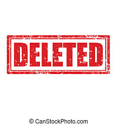 Deleted-stamp - Grunge rubber stamp with word Deleted,vector...