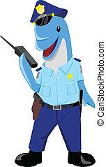 delfin, rendőr