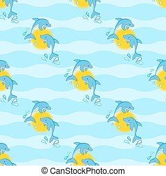 delfines, seamless