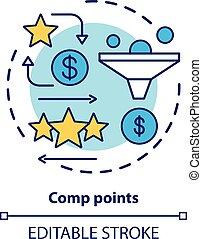 delgado, recompensa, icon., cashback, casino, drawing., ...