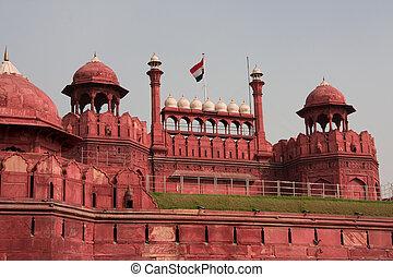 delhi, fuerte rojo