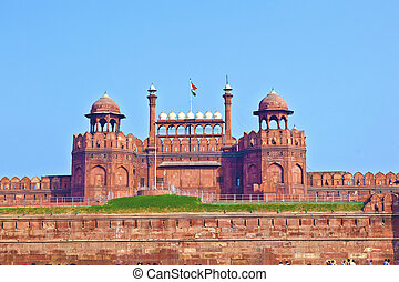 delhi, inde, fort rouge