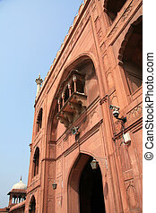 delhi, inde, jama, masjid