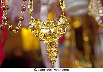 delhi, indiano, negozio, gioielleria