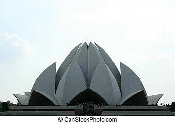 delhi, (lotus, temple), india, bahai, templo