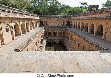 delhi, mehrauli, inde, gandhak, bauli, nouveau, village