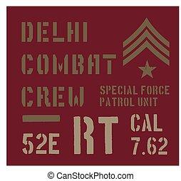 Delhi military plate design