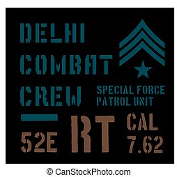 Delhi military plate design