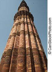 delhi, qutub, inde, mianr
