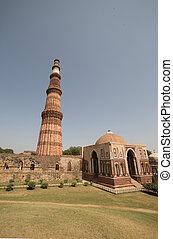 delhi, qutub, inde, minar