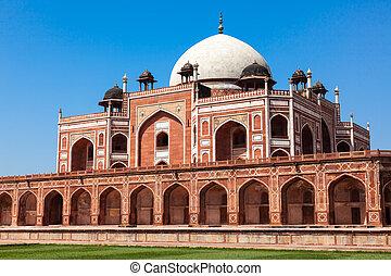 delhi, tomb., humayun's, inde