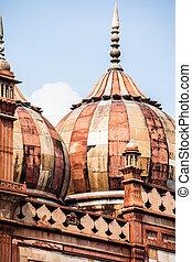 delhi, tumba, safdarjung's, mármol, india, mausoleo, jardín