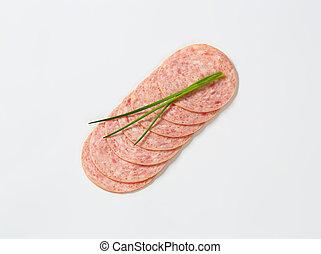 deli, ソーセージ, 肉, に薄く切る