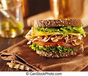 deli, トルコ, サンドイッチ, 肉