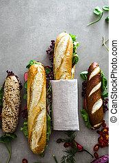 deli, 野菜, サンドイッチ