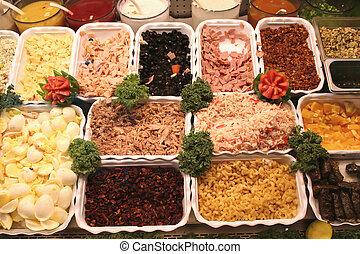 Deli & Salad Bar - deli and salad bar with tomatoes and ...