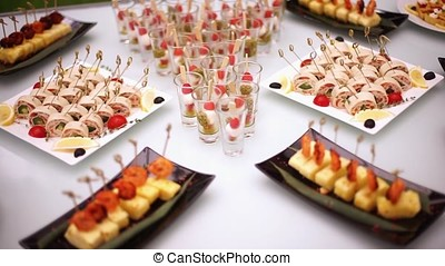 Delicacies, appetizers, desserts at the Banquet. Buffet, catering service. On-site restaurant-2