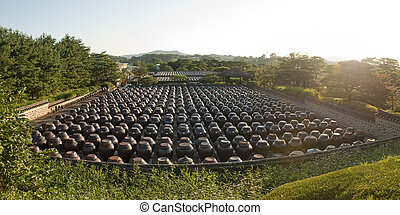Delicacy from Korea - Heavy pots with Korean traditional ...