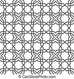 delicado, seamless, patrón, en, islámico, estilo