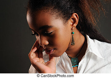 Delicate african american girl