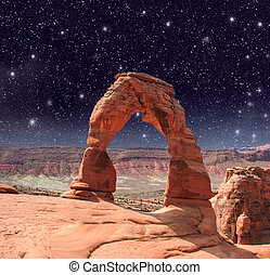 Delicate Arch in Arches National Park - Utah, USA