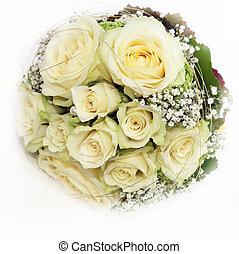 Delicate Bridal Bouquet - Delicate circular bridal bouquet ...