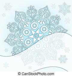 Delicate Christmas frame