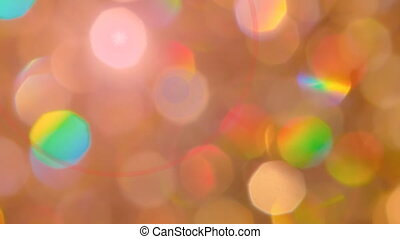 Delicate circle bokeh lights - Delicate pink yellow circle...
