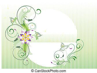 Delicate flower for light green bac