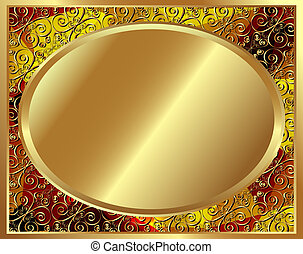 Delicate gold frame with pattern 3
